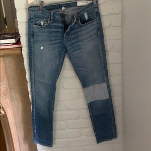 Rag & bone jeans with patch detail
